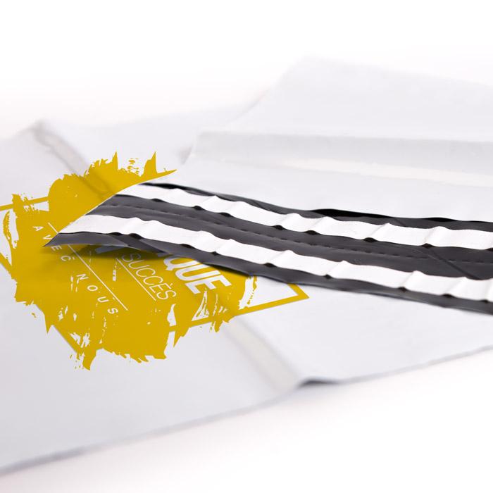 enveloppe plastique ouverture personnalisee entreprise
