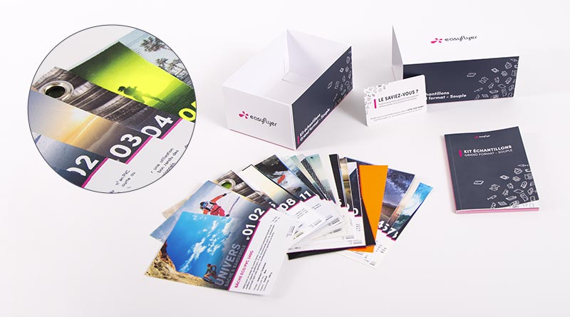kit échantillons grand format souple supports personnalisés