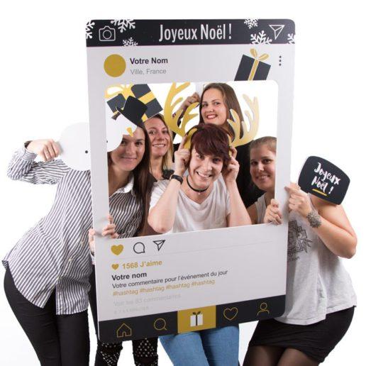 photobooth cadre à selfie noël événement entreprise mariage lancement produit