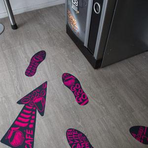 Vinyle Sol Stickers Soirée Evénement Signalétique After Work
