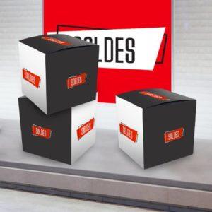 cube carton personnalisé soldes pour magasin