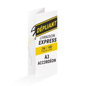 dépliant express 24h pli accordéon