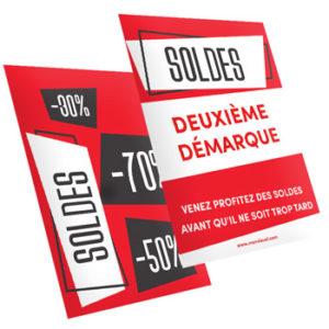 flyer personnalisé soldes