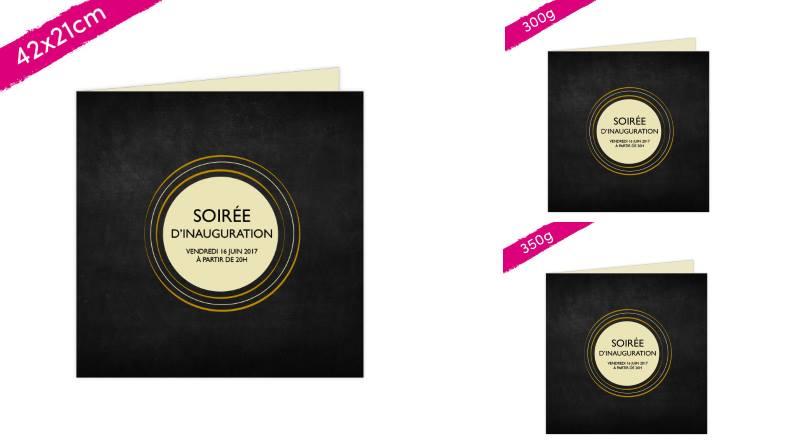 nouveau carton d'invitation double 42 x 21 cm ouvert