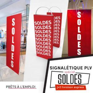 signalétique plv soldes prête à l'emploi pour habillage magasin