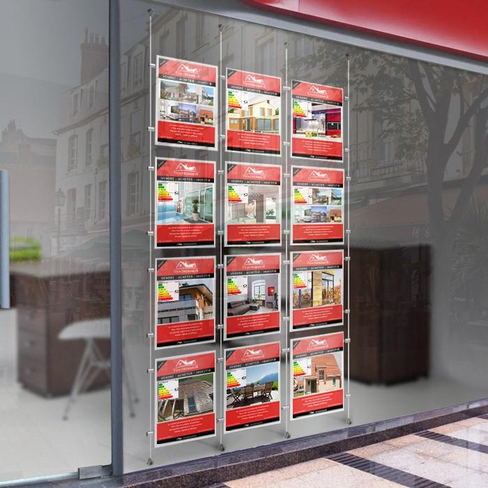 vitrine kit porte-affiche agence immobilière