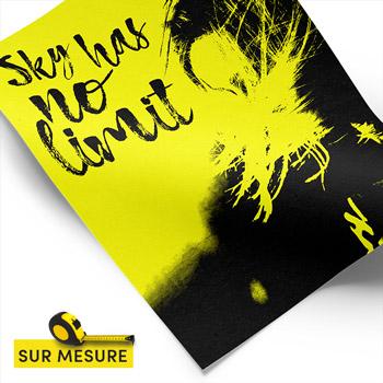 affiche jaune fluo sur-mesure