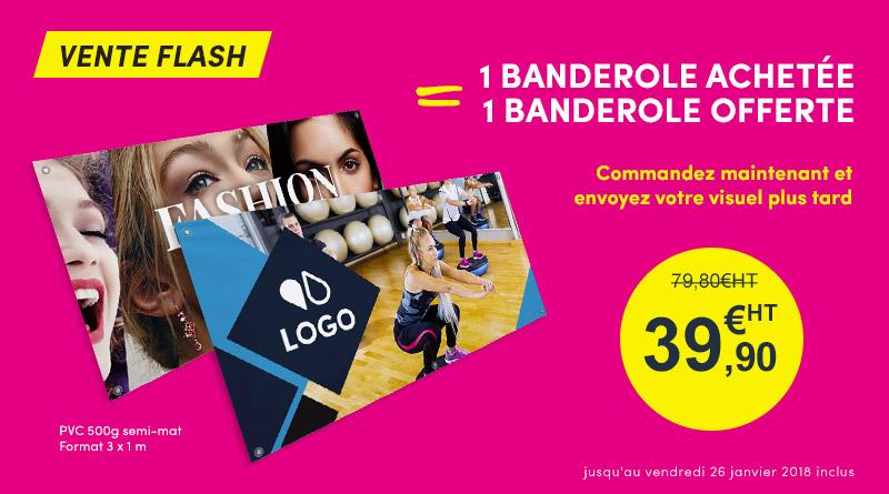 banderole offre flash Bâche Pro PVC semi mat 500g