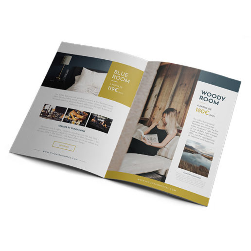 brochure hôtel design