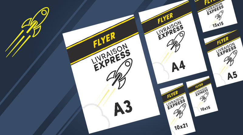 flyers express 300g personnalisables