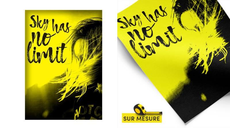 nouvelle affiche jaune fluo sur-mesure
