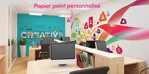 salle réunion papier peint personnalisé