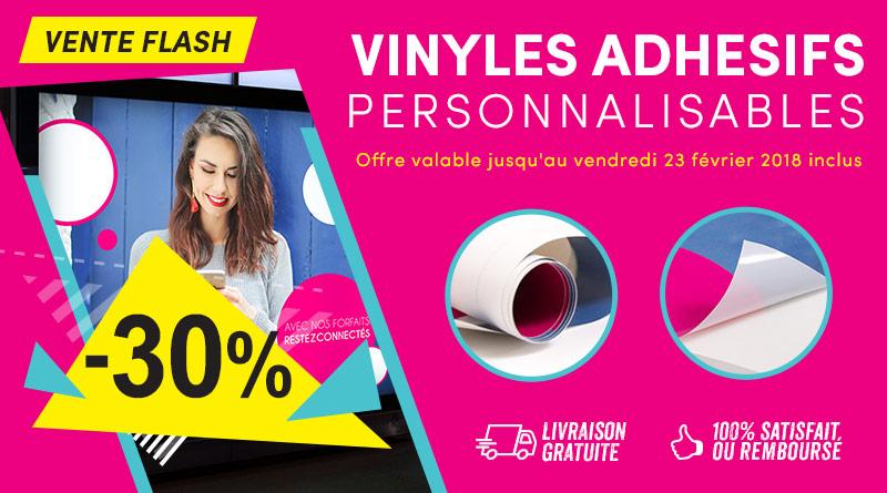 vente flash vinyles adhésifs sur-mesure