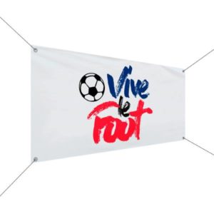Coupe du Monde de football bâche logotée communication foot