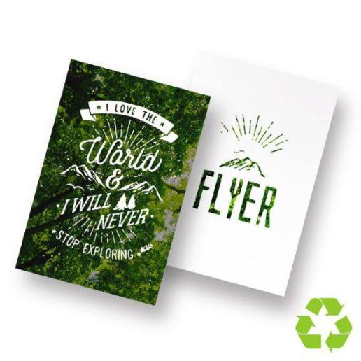 flyer écologique en papier recyclé impression r/v