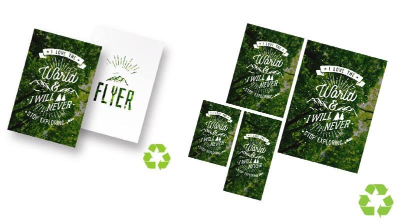 flyers écologiques en papier recyclé