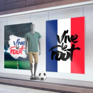 habillage vitrine kakémonos coupe du monde