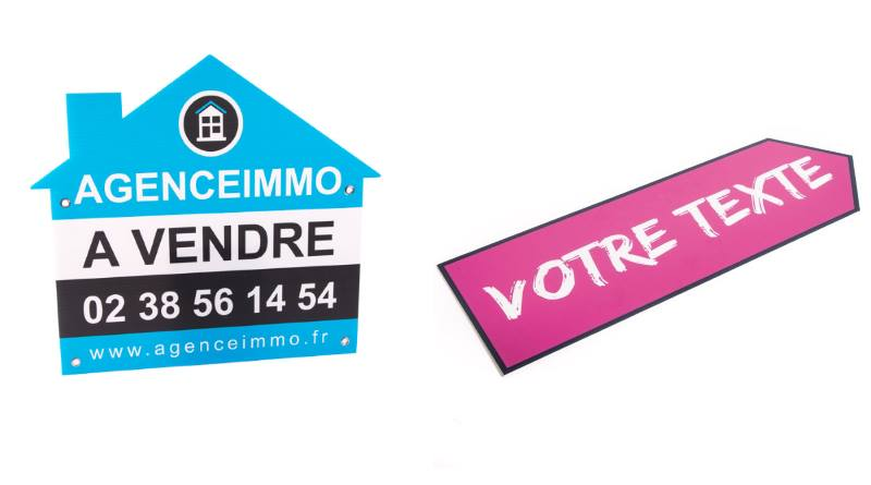 panneau akilux utilisations : panneau immo, pancarte publicitaire, fléchage directionnel