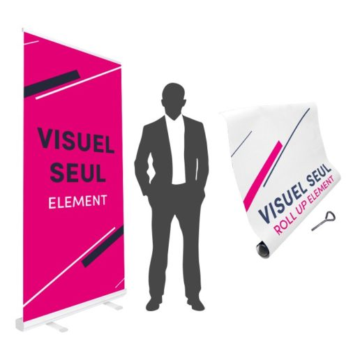 roll up element visuel seul personnalisable