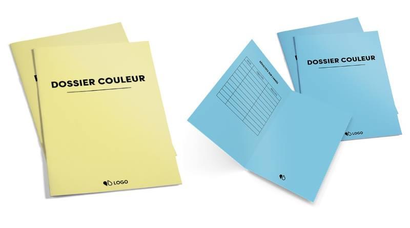 dossiers couleurs - sous chemises administratives personnalisables