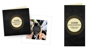 Imprimez des cartons d'invitation à votre image