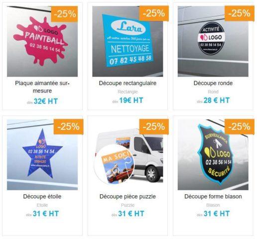 plaques aimantées personnalisables pour véhicules