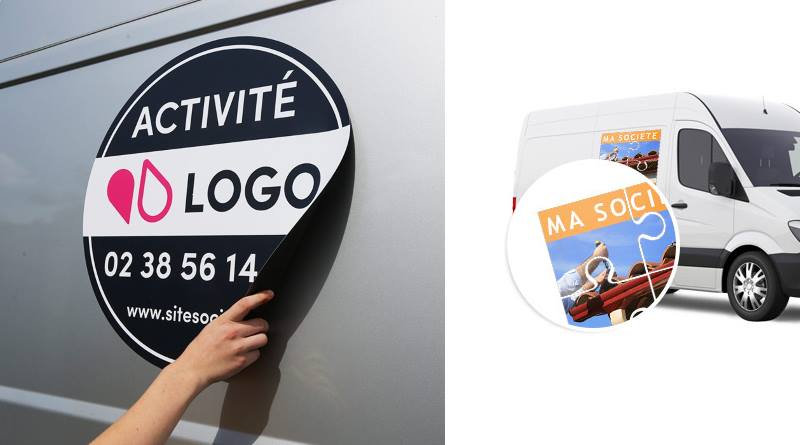 plaques aimantées personnalisées véhicules