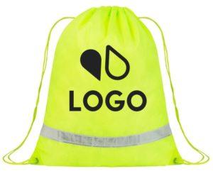 sac à dos réfléchissant fluo impression personnalisée