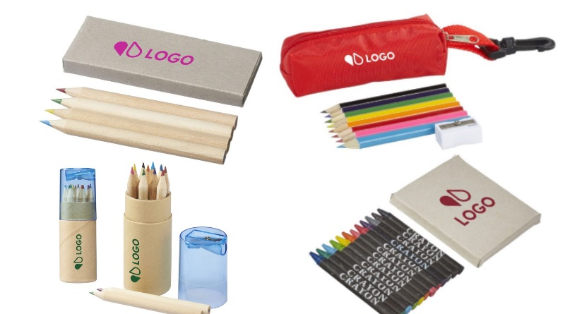 crayons de couleurs publicitaires