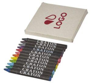 set 12 crayons couleur personnalisable boite impression logo