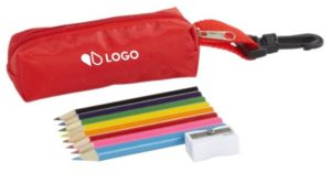 set 12 crayons trousse couleur imprimée