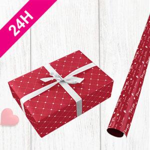 papier cadeau saint valentin