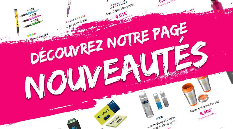 site e-commerce easyflyer page nouveautés