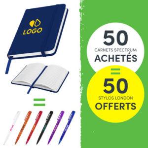 offre bloc notes stylos personnalises