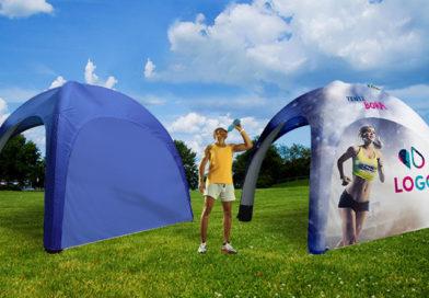 Découvrez la tente Bora : idéale pour une communication publicitaire sur 360° !