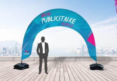 Améliorez votre communication marketing grâce à une arche en textile 100% personnalisable