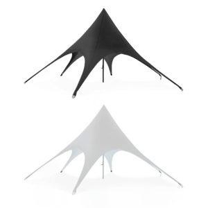 tente publicitaire textile noir ou blanc