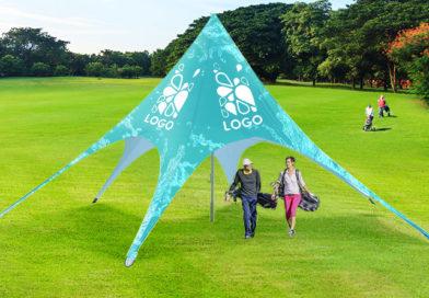 Visibilité maximale avec la tente publicitaire Star !