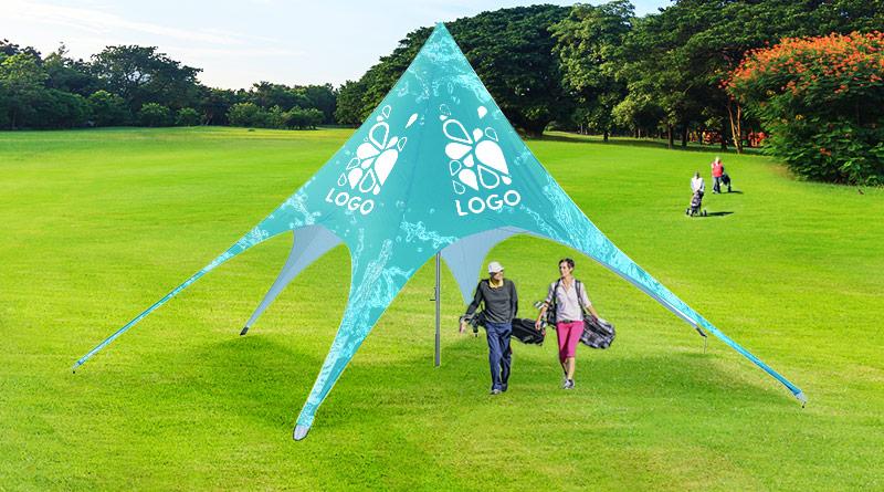 tente star personnalisée événement outdoor
